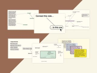 Slides showing a mind map work process