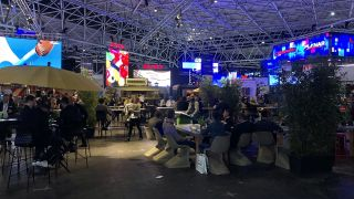 The space that LG was supposed to occupy in Hall 12 was turned into a food court area complete with food trucks.