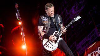 James Hetfield performing live