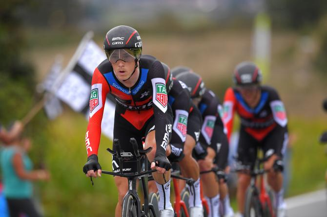 Rohan Dennis on the front for BMC Racing