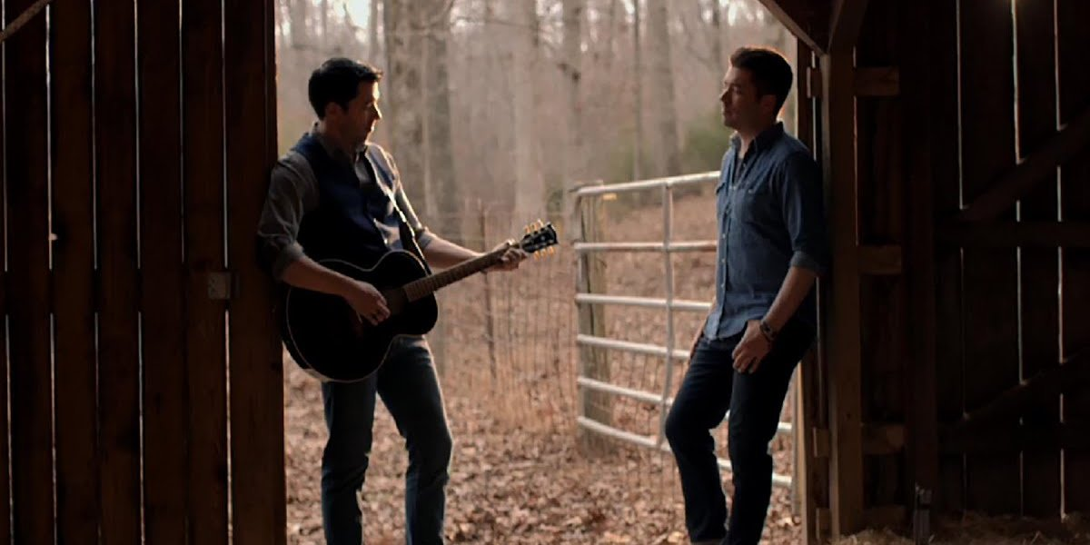 """Drew and Jonathan Scott in the video for """"Hold On"""""""