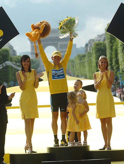Tour de France 2005 Lance Armstrong podium
