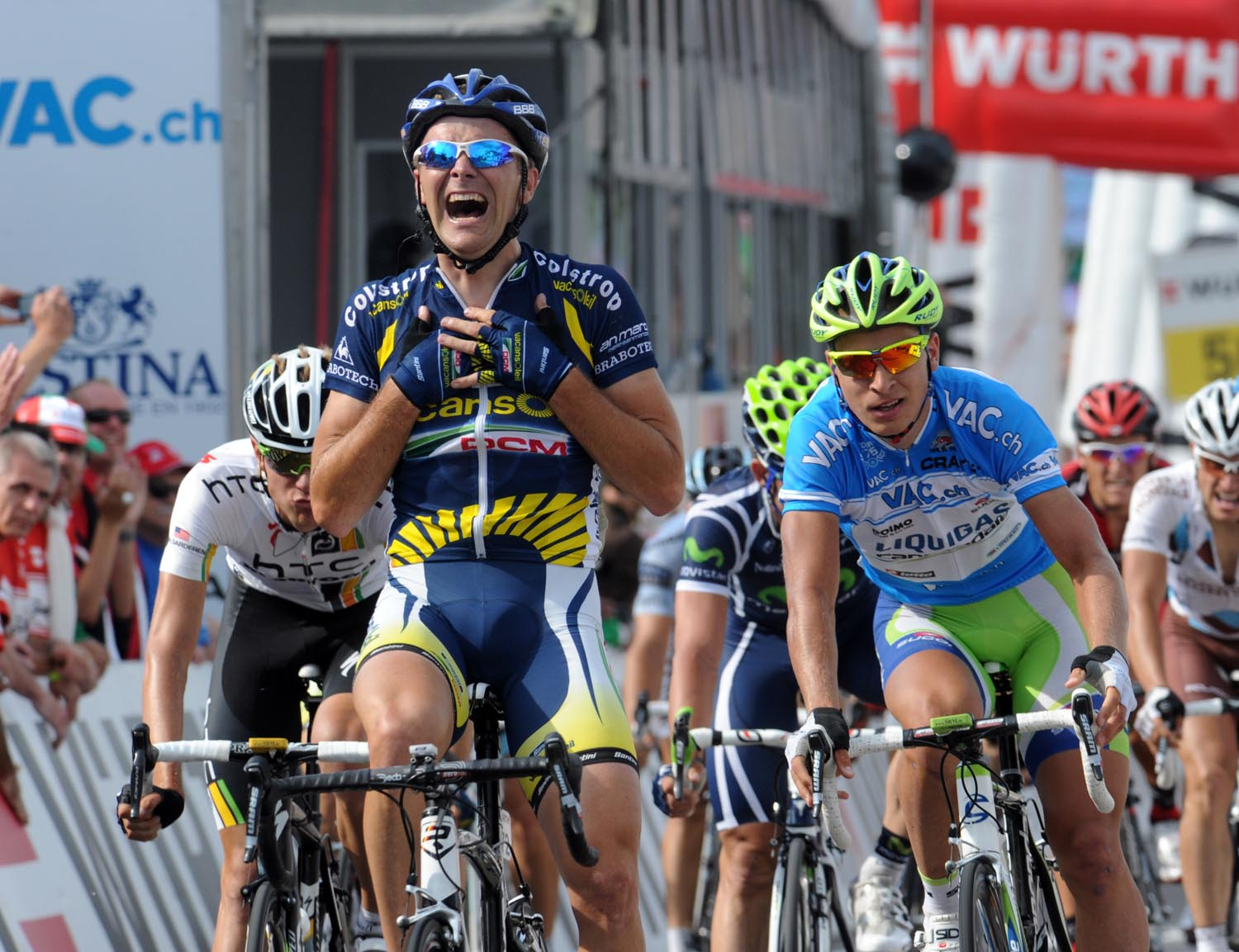 Borut Bozic wins, Tour de Suisse 2011, stage five
