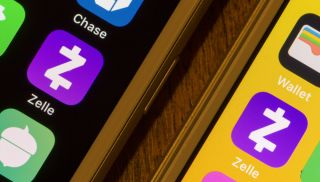 Zelle app icons on two smartphones.
