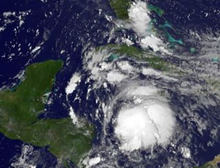Satellite image of Tropical Storm Ernesto