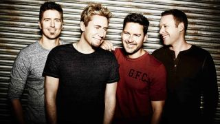 Nickelback with Adair, far left