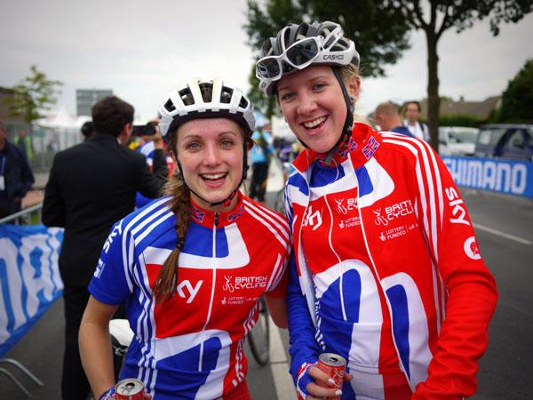 Elinor Barker and Jessie Walker, World Champs 2012