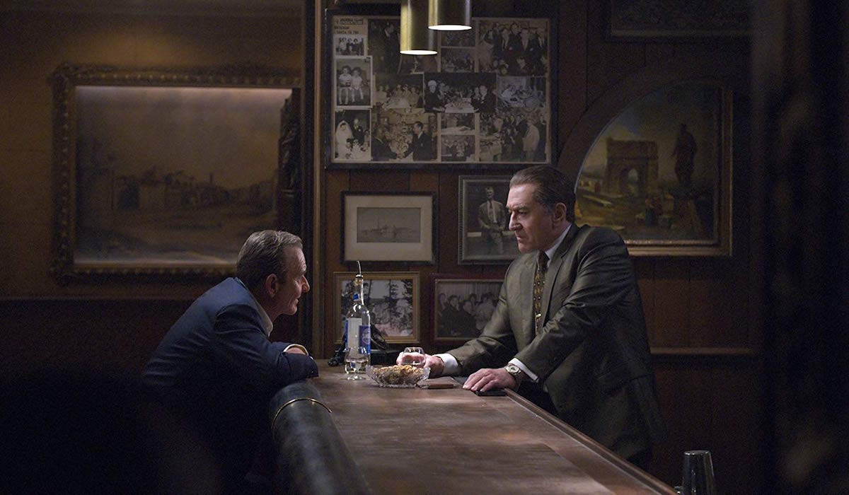 Robert De Niro and Joe Pesci in The Irishman
