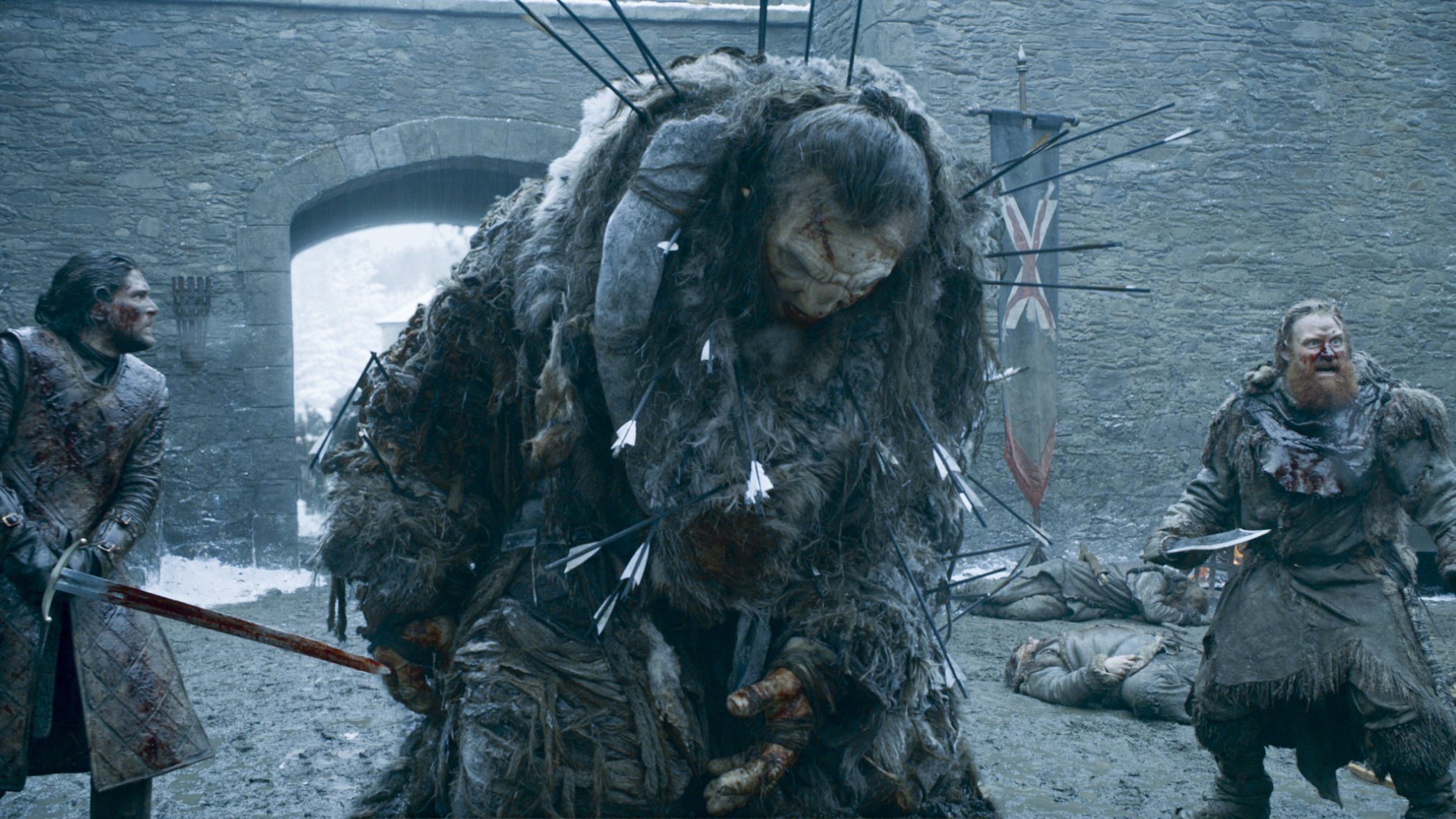 Wun Wun the giant in The Battle Of The Bastards on HBO's Game Of Thrones