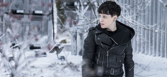 The Girl In The Spider's Web Claire Foy as Lisbeth Salander in the snow
