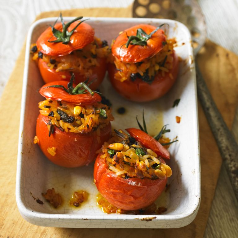 Baked stuffed tomatoes recipe