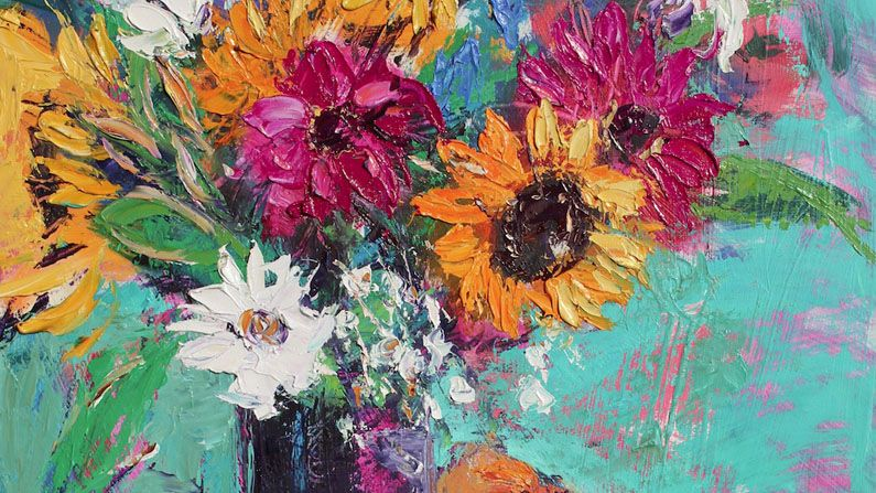 How to paint a vibrant floral still life creative bloq for Floral acrylic paintings
