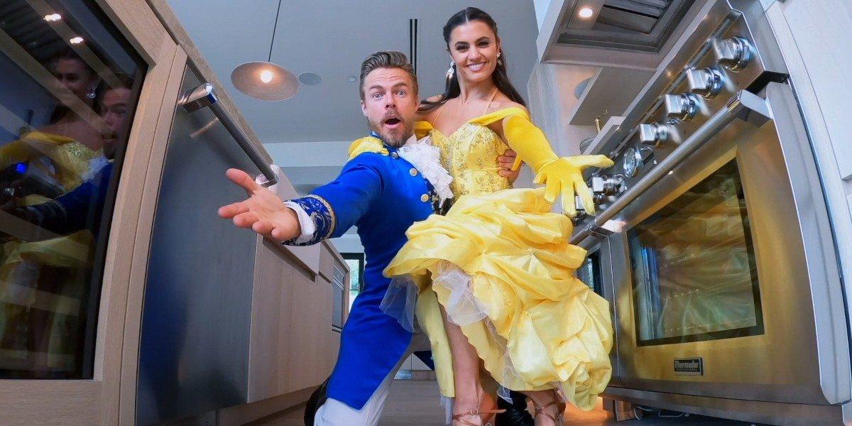 Derek Hough and Hayley Erbert on The Disney Family Singalong