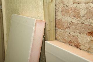 internal wall insulation boards during installation