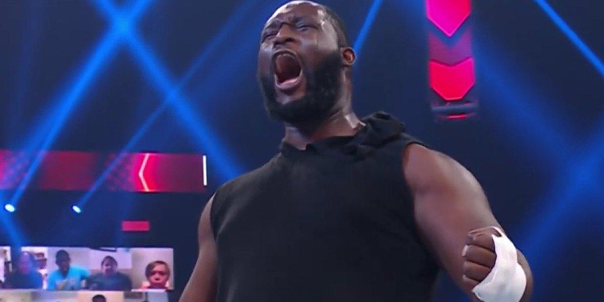 Omos on Monday Night Raw
