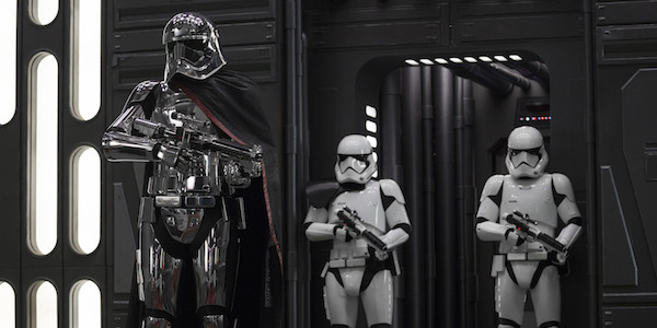 Phasma and stormtroopers in Star Wars: The Last Jedi