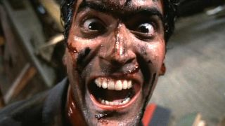 Bruce Campbell as Ash in The Evil Dead 2.