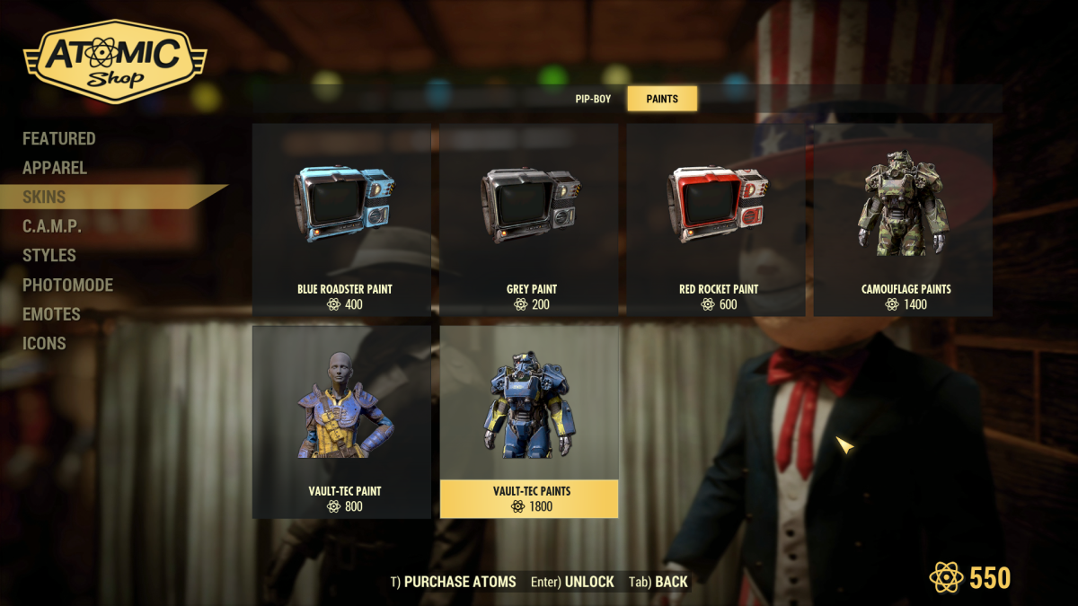 Fallout 76's Atomic Shop microtransactions | PC Gamer