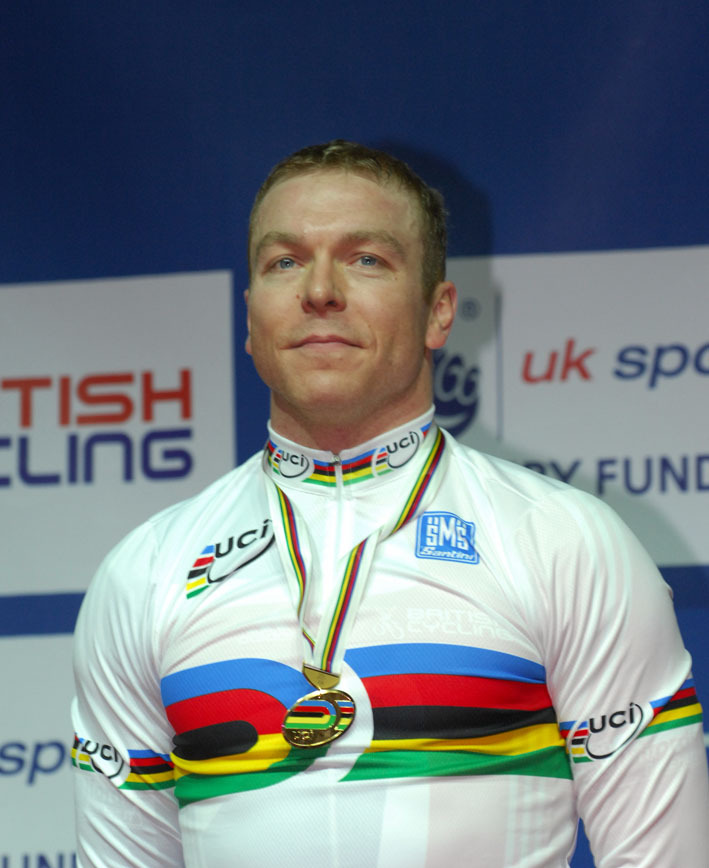 Chris Hoy sprint podium 2008