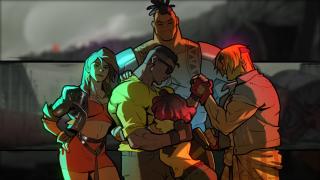streets of rage 4 character group hug