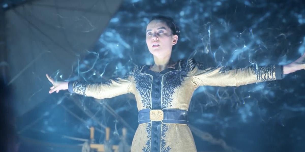 Jessie Mei Li as Alina Starkov in the Shadow and Bone finale / ending