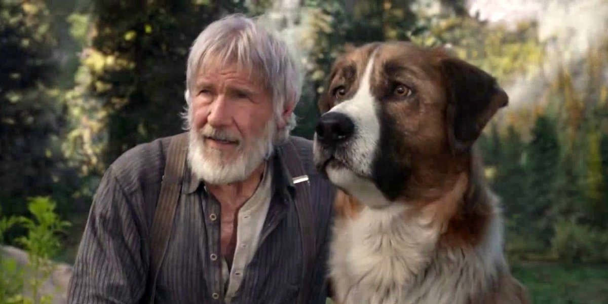 Harrison Ford and Terry Notary in The Call of the Wild