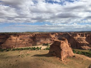 """Canyon de Chelly National Monument (""""Tséyi"""" in Navajo) in Arizona, which is located in the heart of Navajo Nation land. This name and other names in the Navajo language are being used to name features on the surface of Mars with NASA's latest Mars mission."""