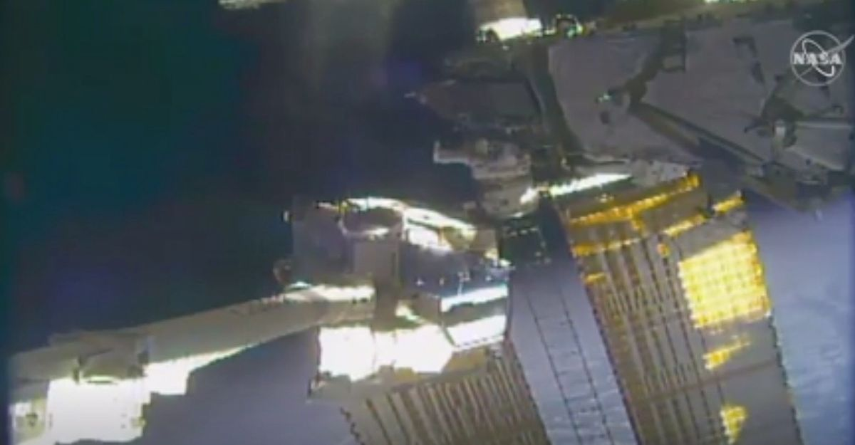 Spacewalking astronauts replace old space station batteries as part of years-long upgrade thumbnail