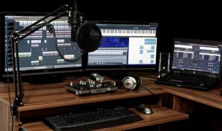 A typical home recording studio