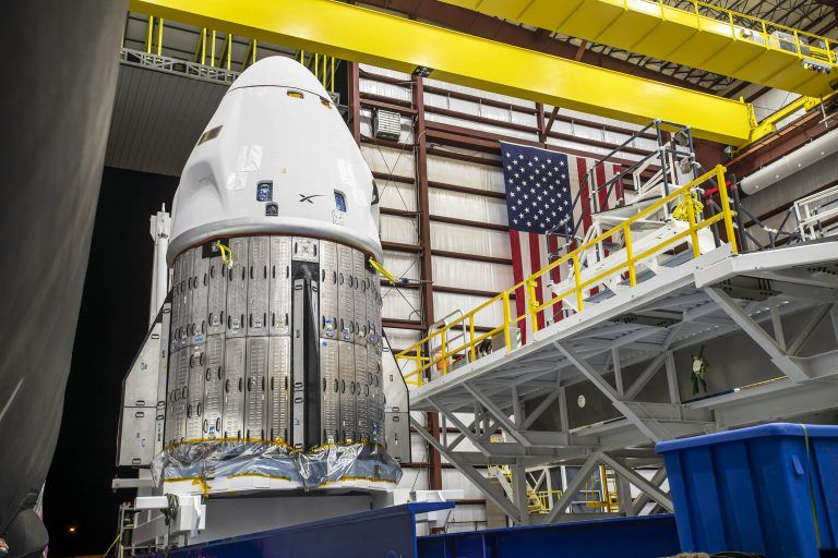 SpaceX's Crew Dragon Endurance arrives at rocket hangar in awesome photos