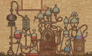 An elaborate alchemy machine