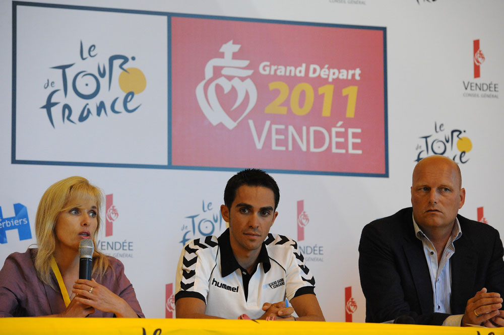 Alberto Contador, Saxo Bank, Tour de France 2011 press conference