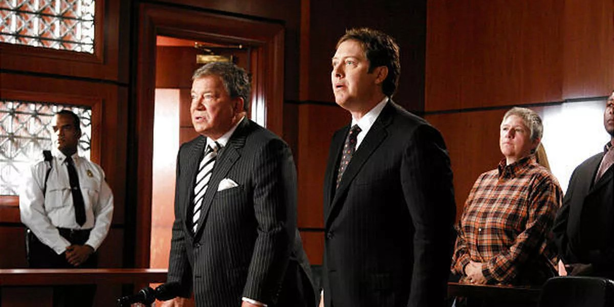 William Shatner and James Spader in Boston Legal