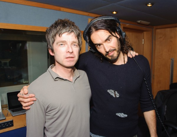 Russell Brand with his pal Noel Gallagher
