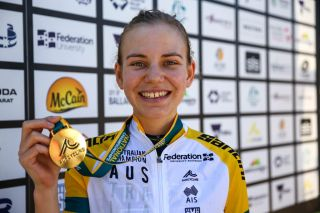 Sarah Gigante (Tibco-SVB) takes out the U23 and elite time trial title for a second year running