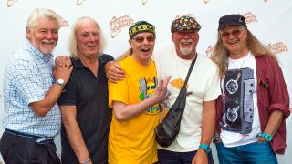 Fairport Convention backstage at Cropredy 2017