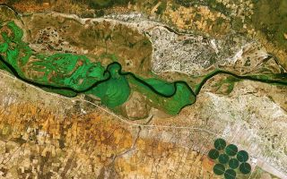 Earth From Space: Okavango Space Wallpaper