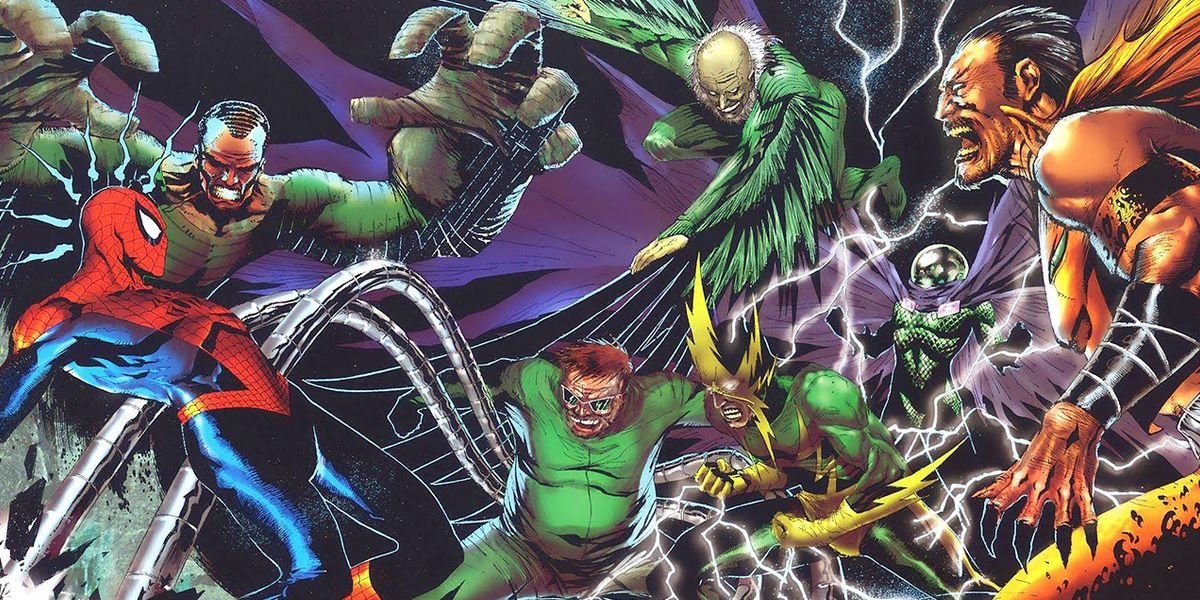 Spider-Man fighting Sinister Six