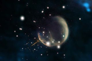 Whirling 'Cannonball' Pulsar Flees Supernova Site at Epic Speed