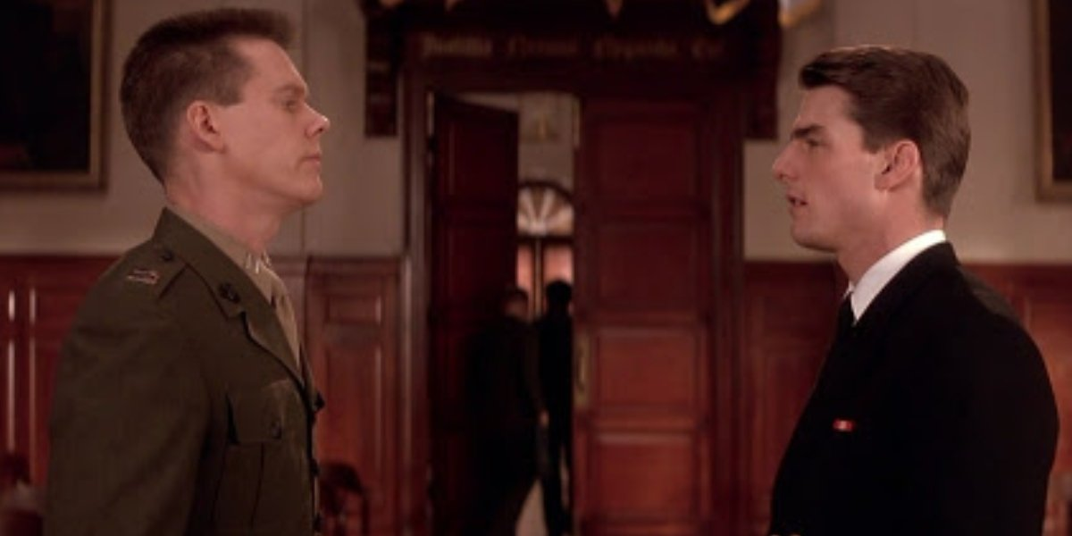 Kevin Bacon and Tom Cruise in A Few Good Men