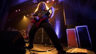 Guitarist Erik Rutan Of Cannibal Corpse performs at The Regency Ballroom on February 23, 2019 in San Francisco, California.
