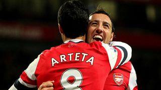 Santi Cazorla Mikel Arteta Arsenal