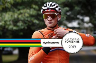 The Netherlands' Mathieu van der Poel trains in Yorkshire ahead of the 2019 World Championships elite men's road race