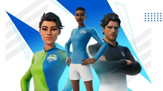 Some of Fortnite's new football strips.