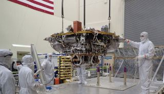 InSight spacecraft testing