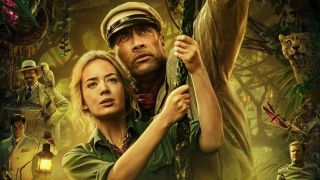 Dwayne Johnson and Emily Blunt in Jungle Cruise poster