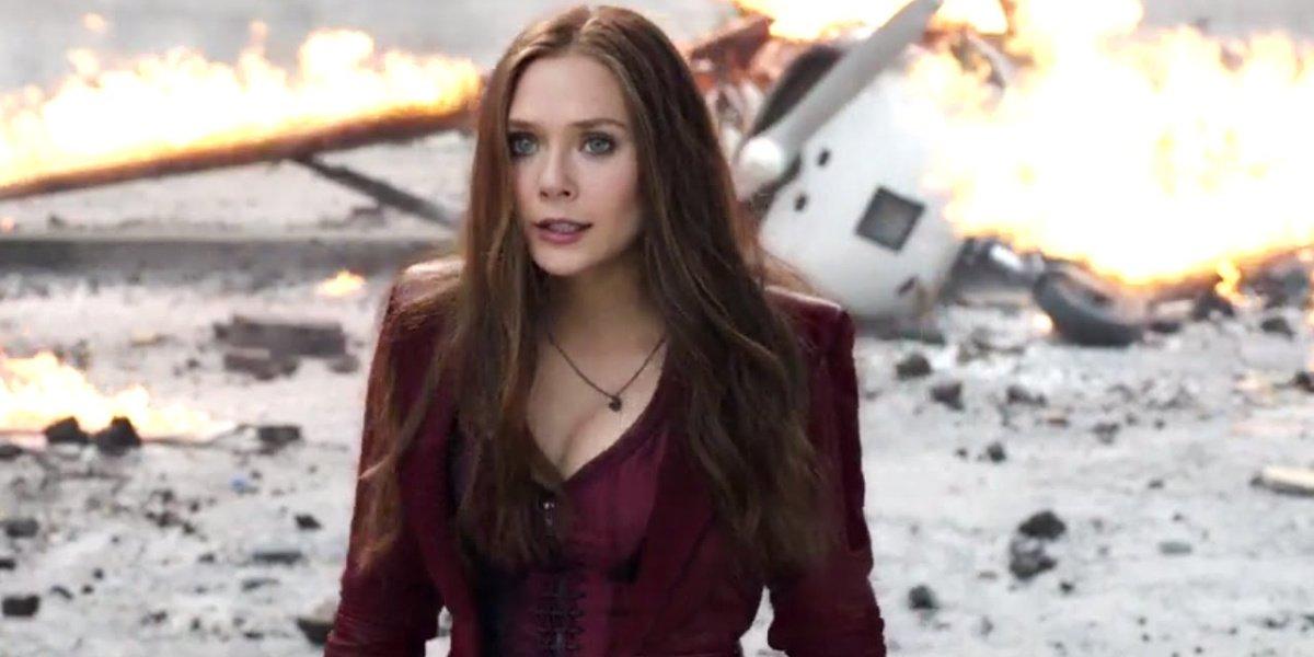 Elizabeth Olsen in Captain America: Civil War.