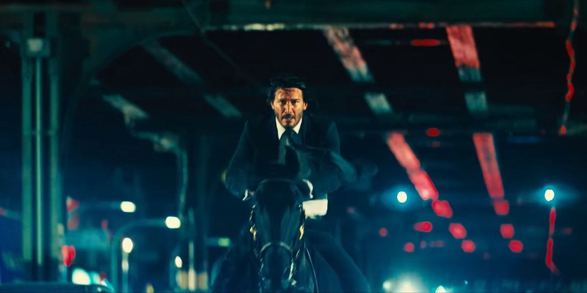 Keanu Reeves on horseback in John Wick: Chapter 3 - Parabellum