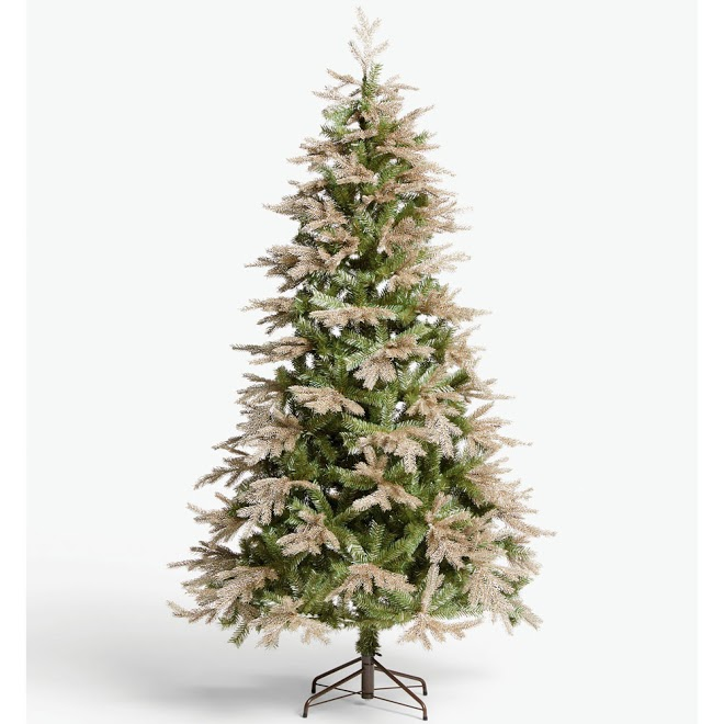 John Lewis & Partners Gabriel Gold Unlit Christmas Tree