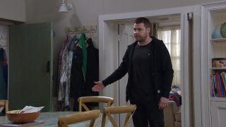 Mack refuses to return the brooch in Emmerdale